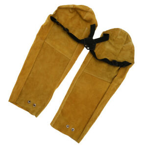 Pair Soldering Sleeves Protective Button Cuff Welders Flame Fire Resistant