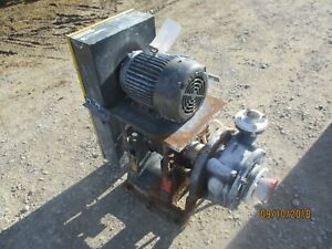 Giw Pump Iron With Motor And Base 460v 1011909c used