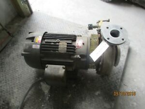 Gusher 3x4x13 Ss Pump With Motor 1011951c used