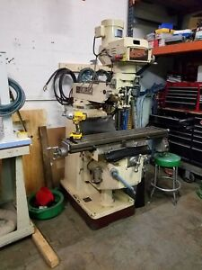 Chevalier Model 10 50 Vertical Milling Machine Bridgeport
