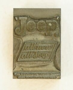 Nm Rare Vintage Jeep Matchbook Cover Print Block Marked B 35