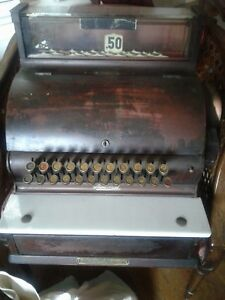 Beautiful 1925 National Cash Register From Bristol Ct Bowling Alley