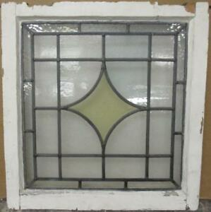 Old English Leaded Stained Glass Window Gorgeous Diamond Design 20 5 X 21 5