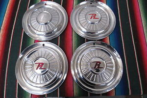 1959 1960 Rambler amc Wheel Covers Hub Caps 15 Hubcaps Vintage Set Of 4