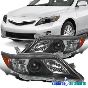 For 2010 2011 Toyota Camry Usa Built Projector Headlights Lamp Black Pair