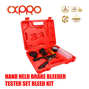 Cxpro Hand Held Vacuum Pressure Pump Brake Fluid Bleeder Tester Tool Kit