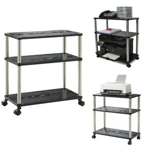 Computer Laptop Stand Cart Rolling Printer Scanner Shelf Portable Office Caddy