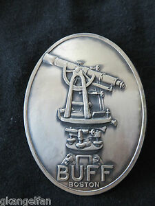 Vintage Original Early 1900 s Embossed Metal Emblem sign From Buff Transit