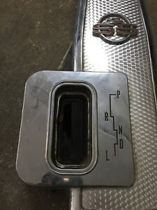 1963 Chevy Impala Ss Center Console 2 Speed Powerglide Plate