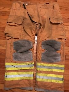 Lion Janesville Firefighter Turnout Pants Bunker Gear With Liner 44 X 28