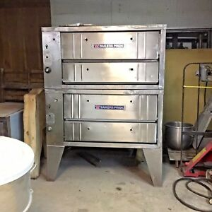 Bakers Pride 252 Natural Gas Double Stack Deck Pizza Oven W Stones Commercial