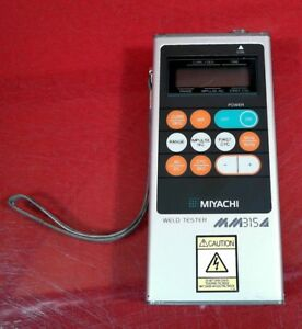 Miyachi Mm 315a Handheld Weld Checker Portable Weld Tester 0358919