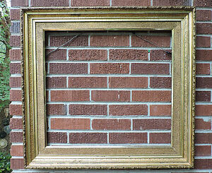 Antique Victorian Gilt Gold Sand Finish Molding Large Frame 23 X 25 C1880s