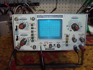 Leader Oscilloscope Lbo 308s 20mhz Dual trace With Manual