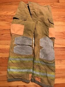 Lion Janesville Firefighter Turnout Pants Bunker Gear With Liner 36 X 30