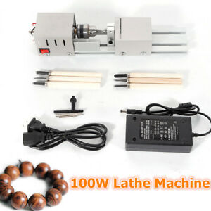 100w Mini Lathe Beads Polisher Grinder Machine Fit Woodworking Diy Rotary Tool