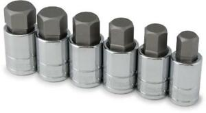 Titan Tools 16156 Sae Large Hex Bit Socket Set 6 Piece