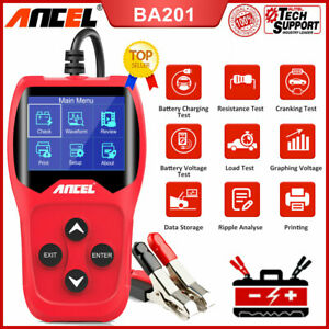 Ancel Ba201 Car Battery Tester 12v Digital Auto Battery Analyzer 100 To 2000 Cca