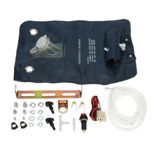 12v Universal Windshield Washer Pump Bag Kits Jet Button Switch Auto Cars Tools