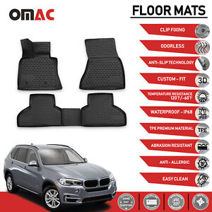 Floor Mats Liner 3d Molded Black Fits For Bmw X5 F15 2014 2018
