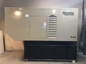 50 Kw Diesel Generator Isuzu 4bg1t Single Or Three Phase Only 49 Hrs 120 240 480
