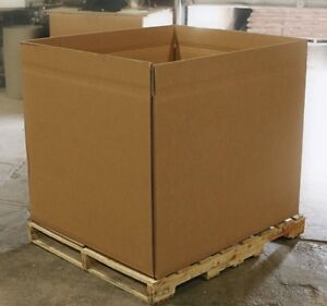 New Triple Wall Gaylord Boxes Bulk Bin With Full Flap Bottom 44 x38 x38