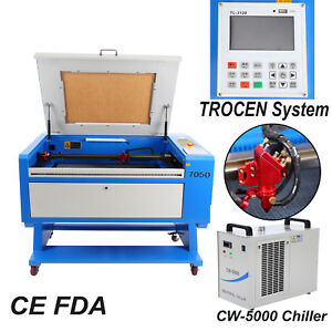 100w Co2 Usb Laser Cutter Engraving Cutting Machine 28 x20 Cw 5000 Chiller