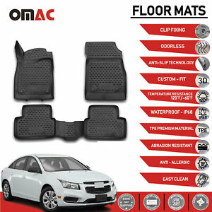 Floor Mats Liner 3d Molded Black Fits For Chevrolet Chevy Cruze 2011 2015