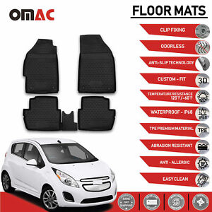 Chevrolet Spark Floor Mats Liner 3d Molded Fit Black Interior Protector 2013 15
