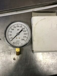 0 3000 Psi Stainless Air Water Pressure Gauge Trerice 1 4npt Lm Water