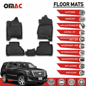 Floor Mats Liner 3d Molded Black 4 Pcs Fits Cadillac Escalade 2015 2020