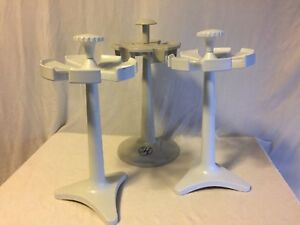 Lot Of 3 2x Rainin Carousel Stand 7 Pipette Another 6 Position Stand