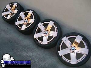 24 Forgiato Simplice Ecl Rose Gold Wheels Dodge Charger Chrysler 300