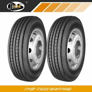 2 New 245 70r19 5 135 133m 16pr All Position Commercial Truck Tires