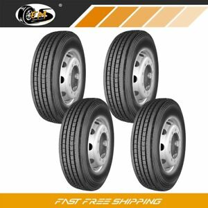 4 New 245 70r19 5 135 133m 16pr All Position Commercial Truck Tires