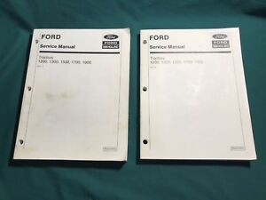 Ford New Holland 1200 1300 1500 1700 1900 Tractor Shop Service Repair Manual Set