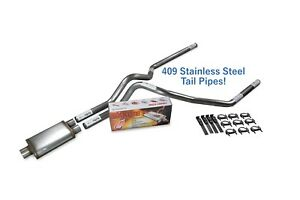 Dodge Ram 1500 09 18 2 5 Stainless Dual Exhaust Kit Cherry Bomb Salute