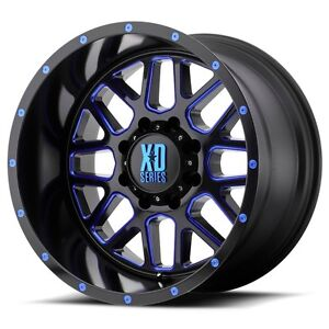 20 Inch Black Blue Wheels Rims Lifted Ford F 250 F 350 8x6 5 Lug Xd820 20x10 New