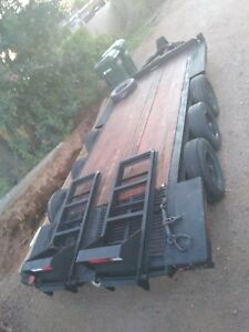Heavy Equipment Triple Axel Flatbed Trailer