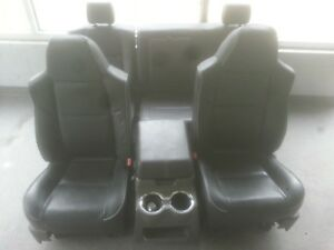08 Ford F 250 Super Duty Lariat Black Leather Seats Center Console