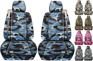 Fits Chevy Trailblazer Gmc Envoy Front Car Seat Cover Urban Camo Gray Blue Pink