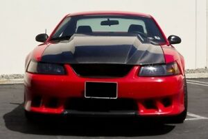 99 04 Ford Mustang Cowl 3 Inch Ram Air Functional Heat Extraction Hood Body Kit