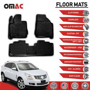 Floor Mats Liner 3d Molded Fits Set For Cadillac Srx 2010 2016