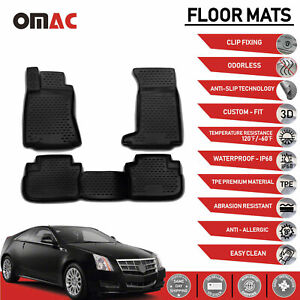 Floor Mats Liner 3d Molded Black Set For 2008 2014 Cadillac Cts Cts V Awd Auto