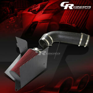 Black Aluminum Cold Air Intake Pipe Heat Shield For 96 00 Chevy Gmc C K 5 0 5 7
