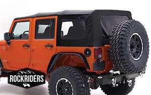 07 09 Jeep Wrangler Unlimited Smittybilt Replacement Soft Top Tinted Windows