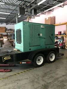 Cummins 35 Kw Portable Diesel Generator 2 501 Hours Ready To Go