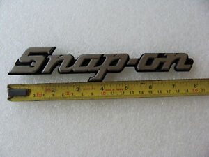 Vintage Snap On Toolbox Logo Crest Badge Metal Kn800 Made In Usa