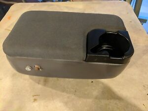 97 03 Ford Ranger Front Center Console Storage Cup Holder W Cloth Lid Cover Oem
