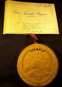 Queen Victoria Great Patent On A Very Large Vellum Super Large Wax Seal 1874